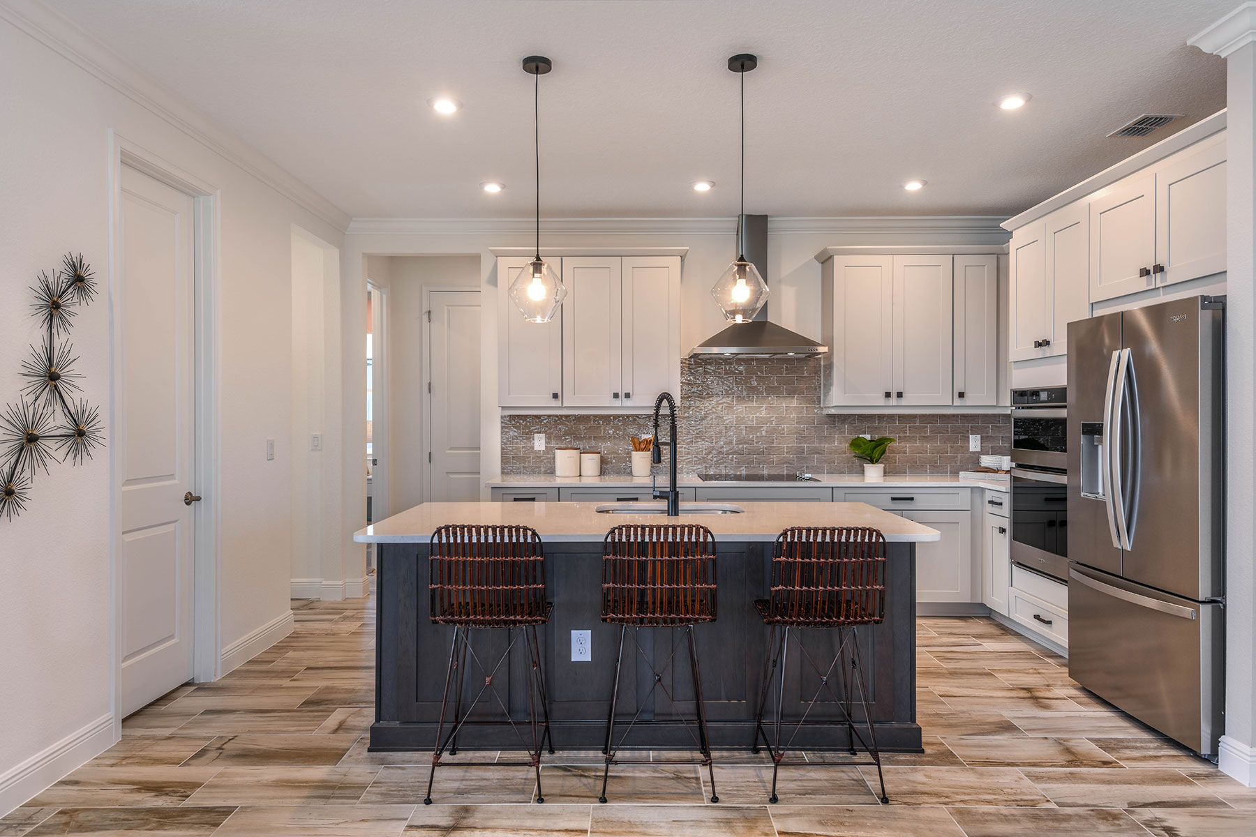 Elm Plan Kitchen at Parkview at Long Lake Ranch in Lutz Florida by Mattamy Homes