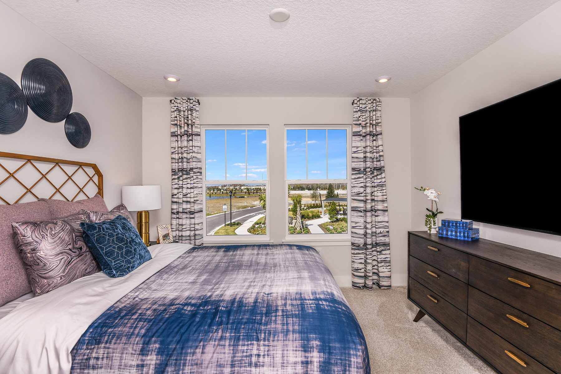 Marianna Plan Bedroom at Parkview at Long Lake Ranch in Lutz Florida by Mattamy Homes