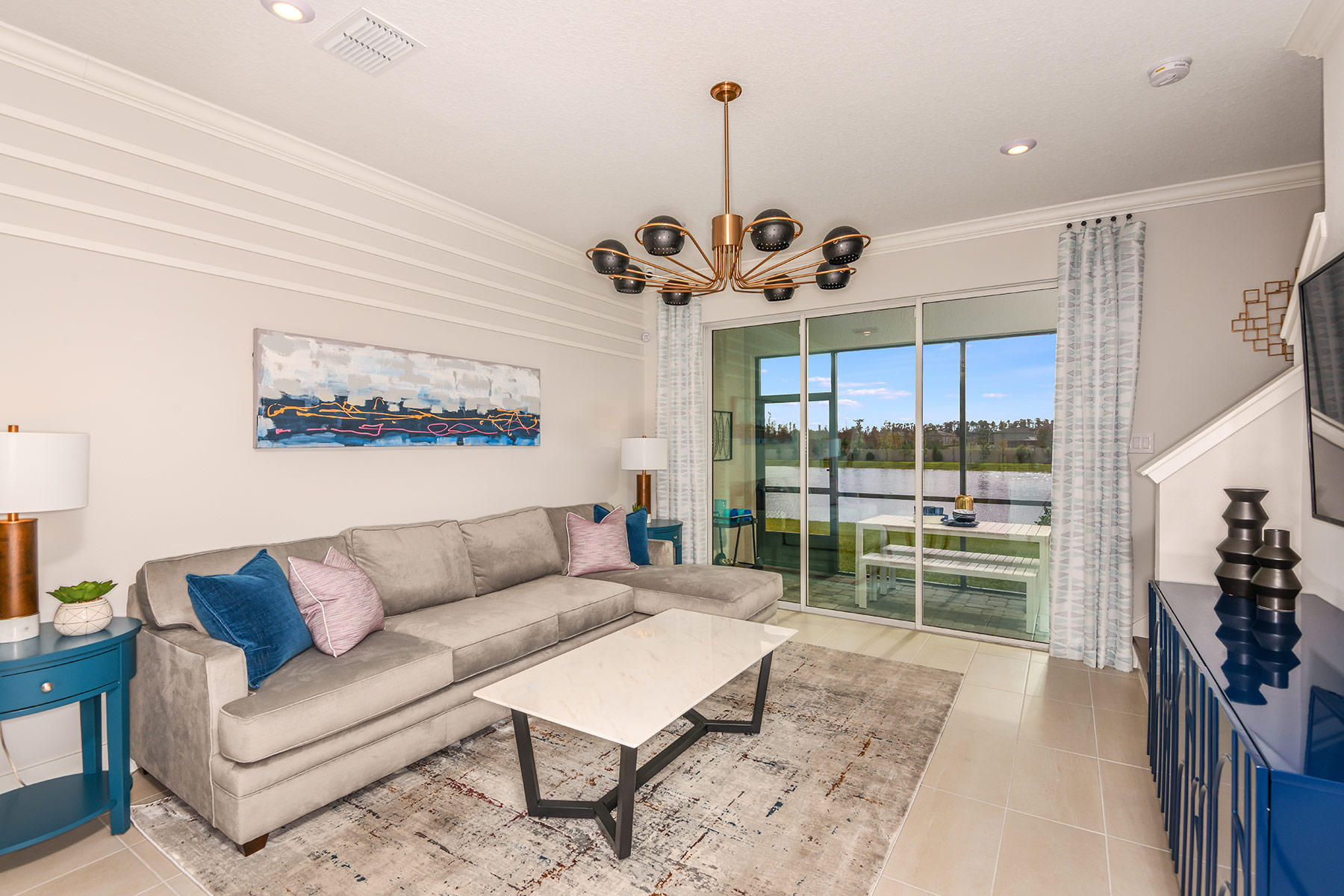 Marianna Plan Greatroom at Parkview at Long Lake Ranch in Lutz Florida by Mattamy Homes