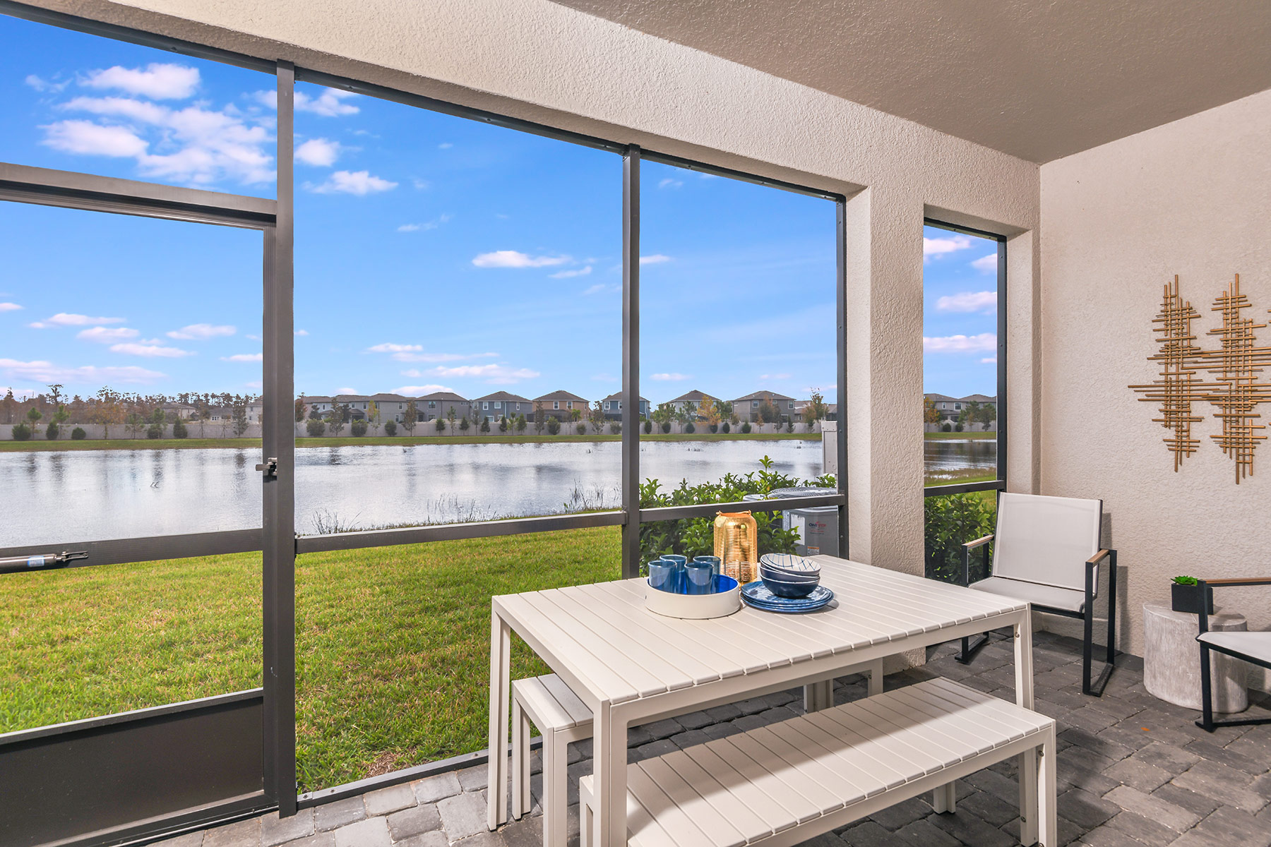 Marianna Plan Patio at Parkview at Long Lake Ranch in Lutz Florida by Mattamy Homes
