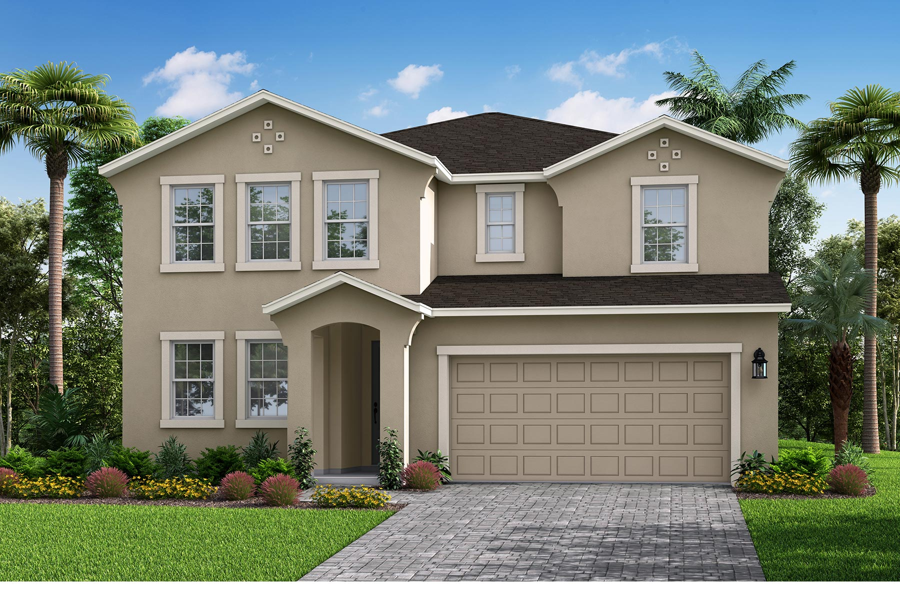Myrtle Plan Elevation Front at Parkview at Long Lake Ranch in Lutz Florida by Mattamy Homes