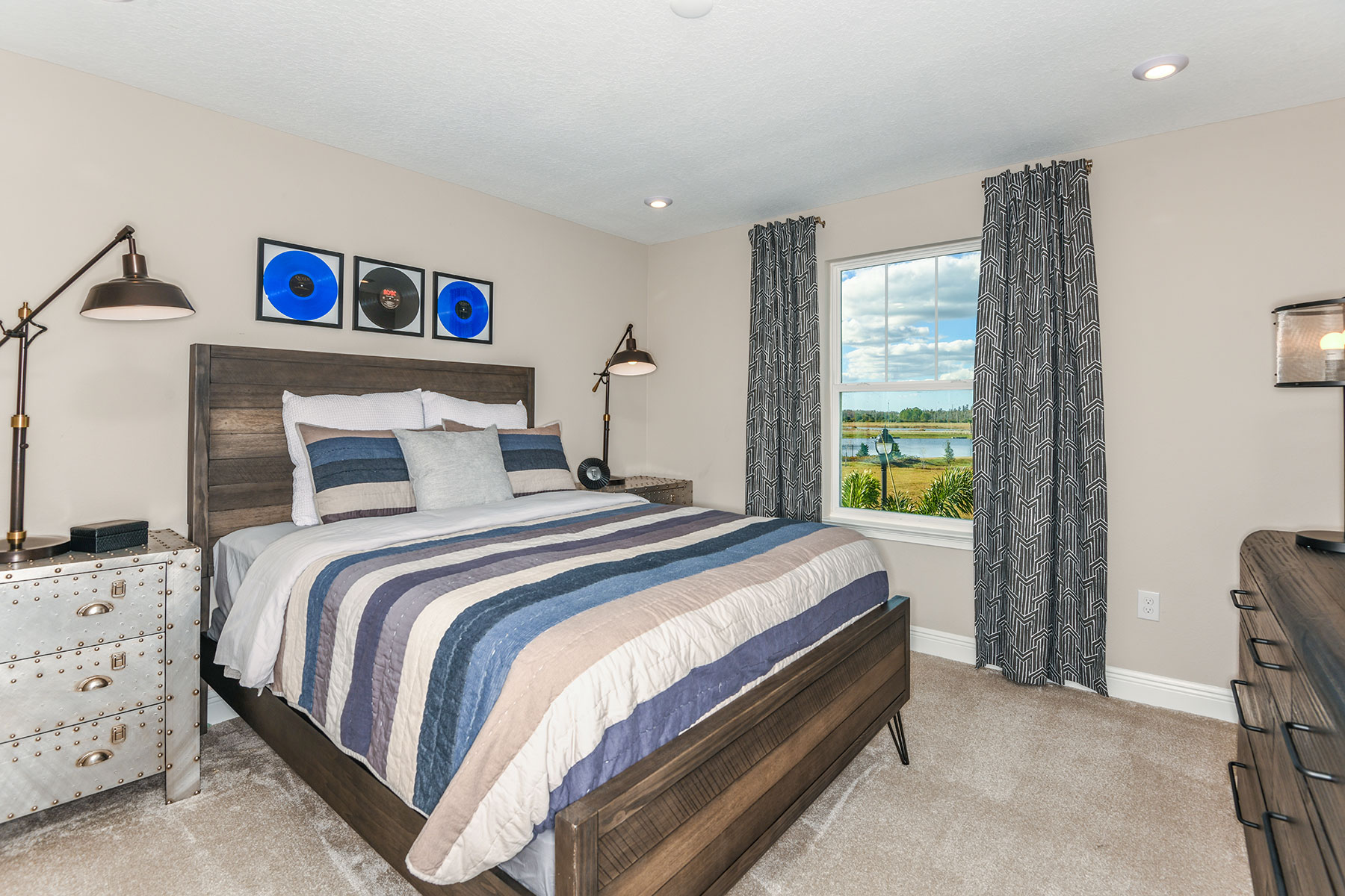 Myrtle Plan Bedroom at Parkview at Long Lake Ranch in Lutz Florida by Mattamy Homes