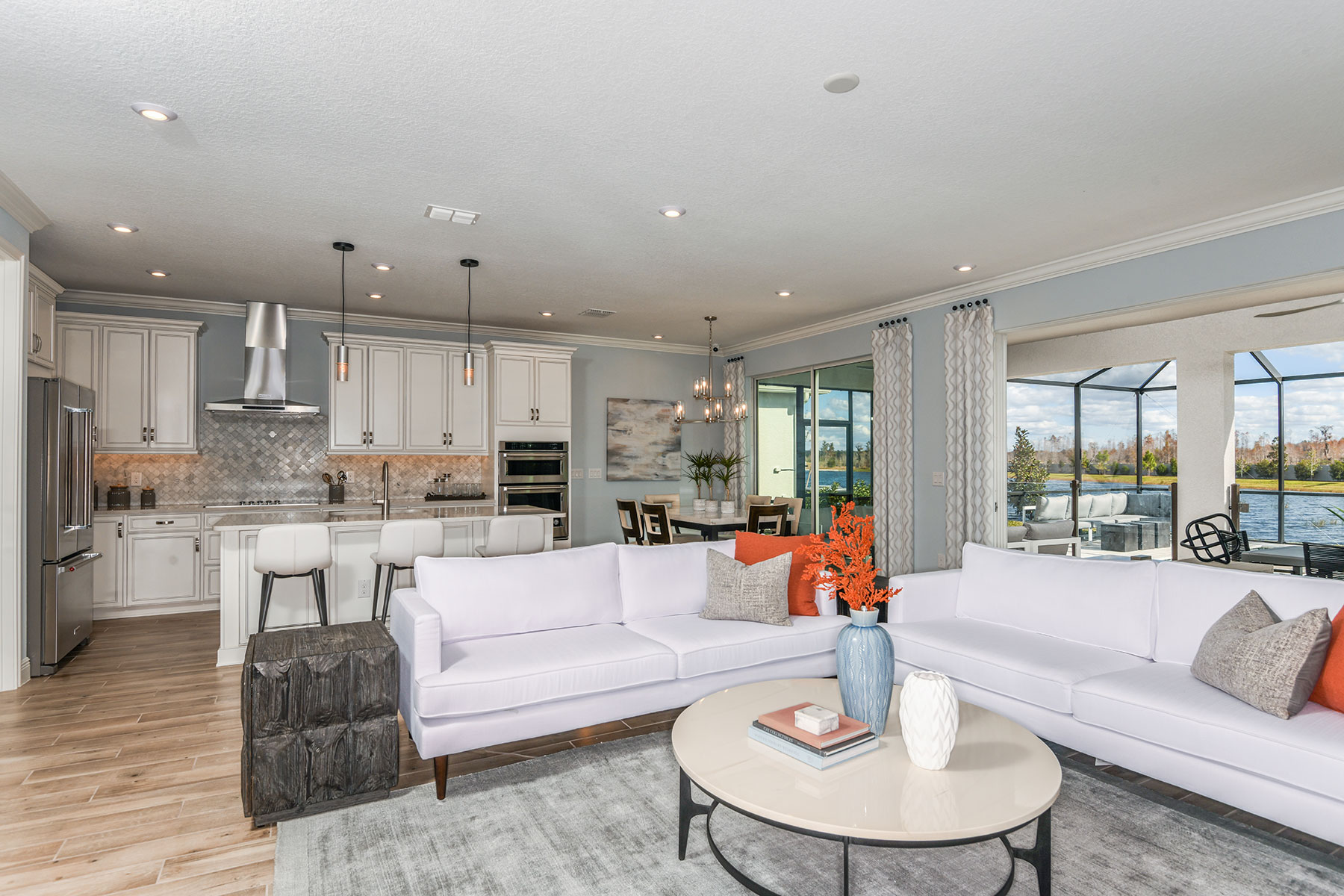 Parkview at Long Lake Ranch Greatroom in Lutz Florida by Mattamy Homes