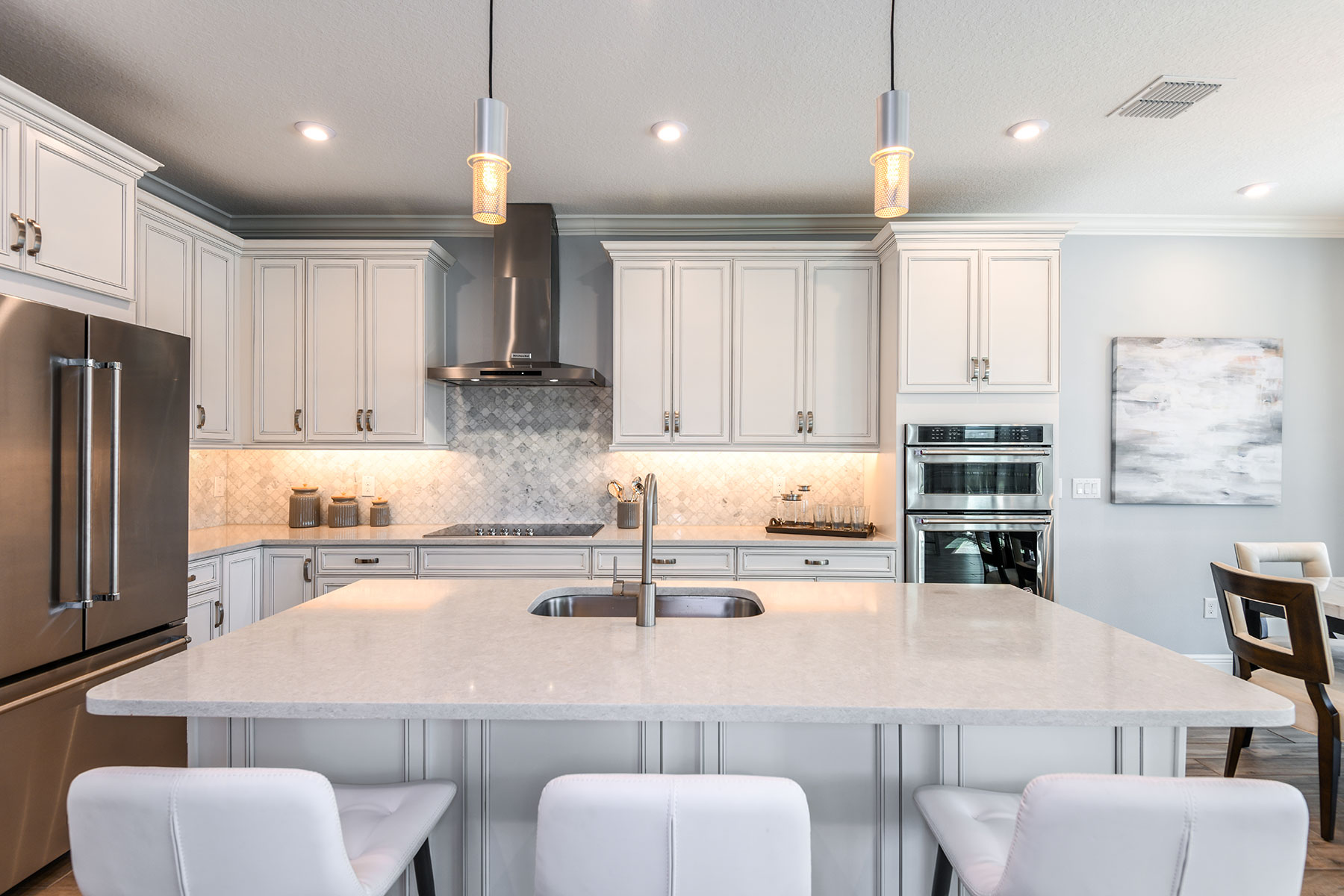 Myrtle Plan Kitchen at Parkview at Long Lake Ranch in Lutz Florida by Mattamy Homes