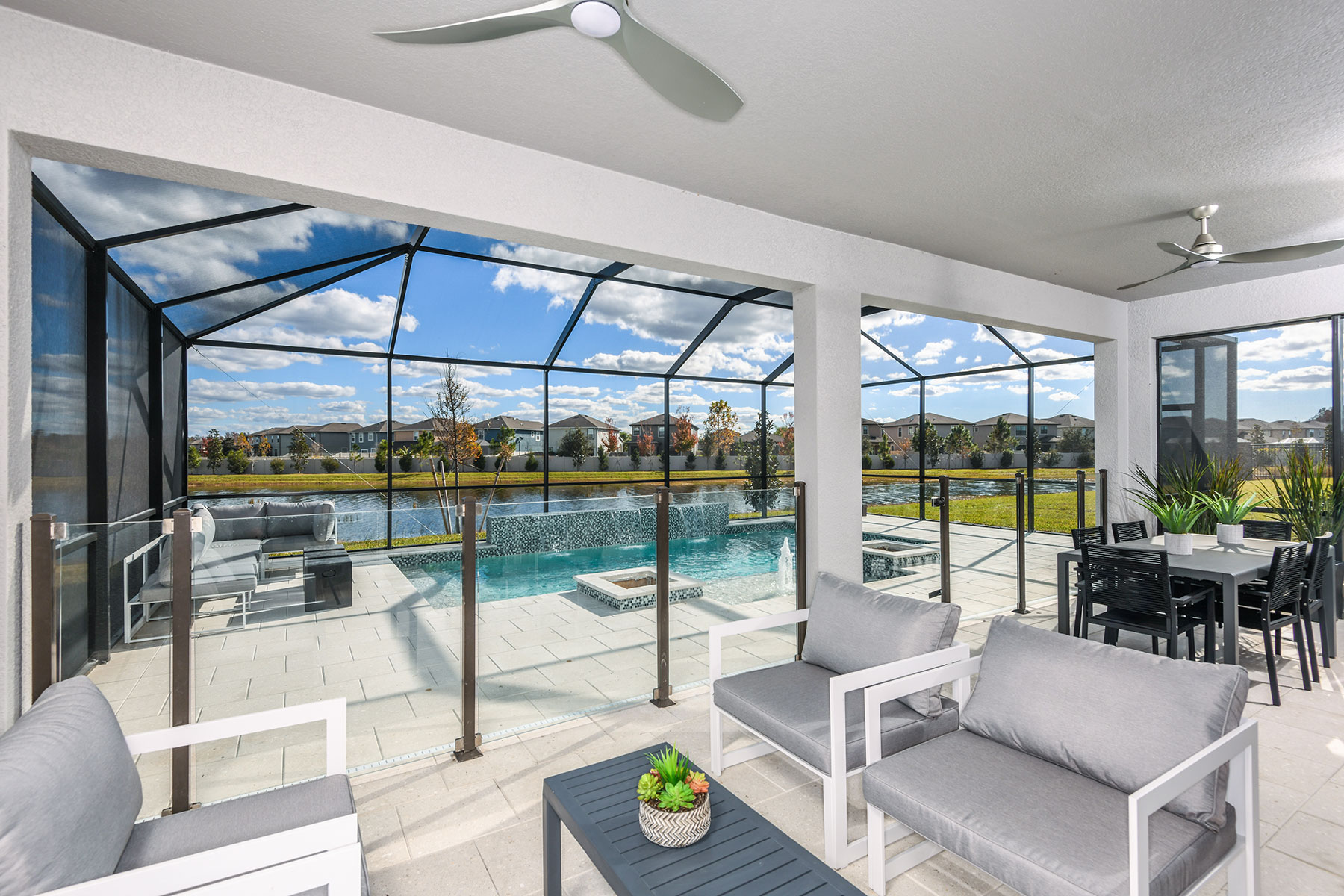 Myrtle Plan Patio at Parkview at Long Lake Ranch in Lutz Florida by Mattamy Homes