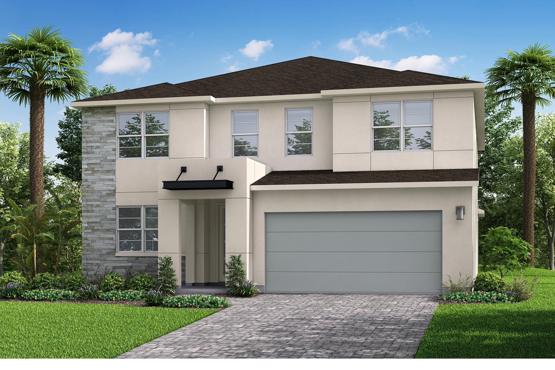 Quinton Plan Elevation Front at Parkview at Long Lake Ranch in Lutz Florida by Mattamy Homes