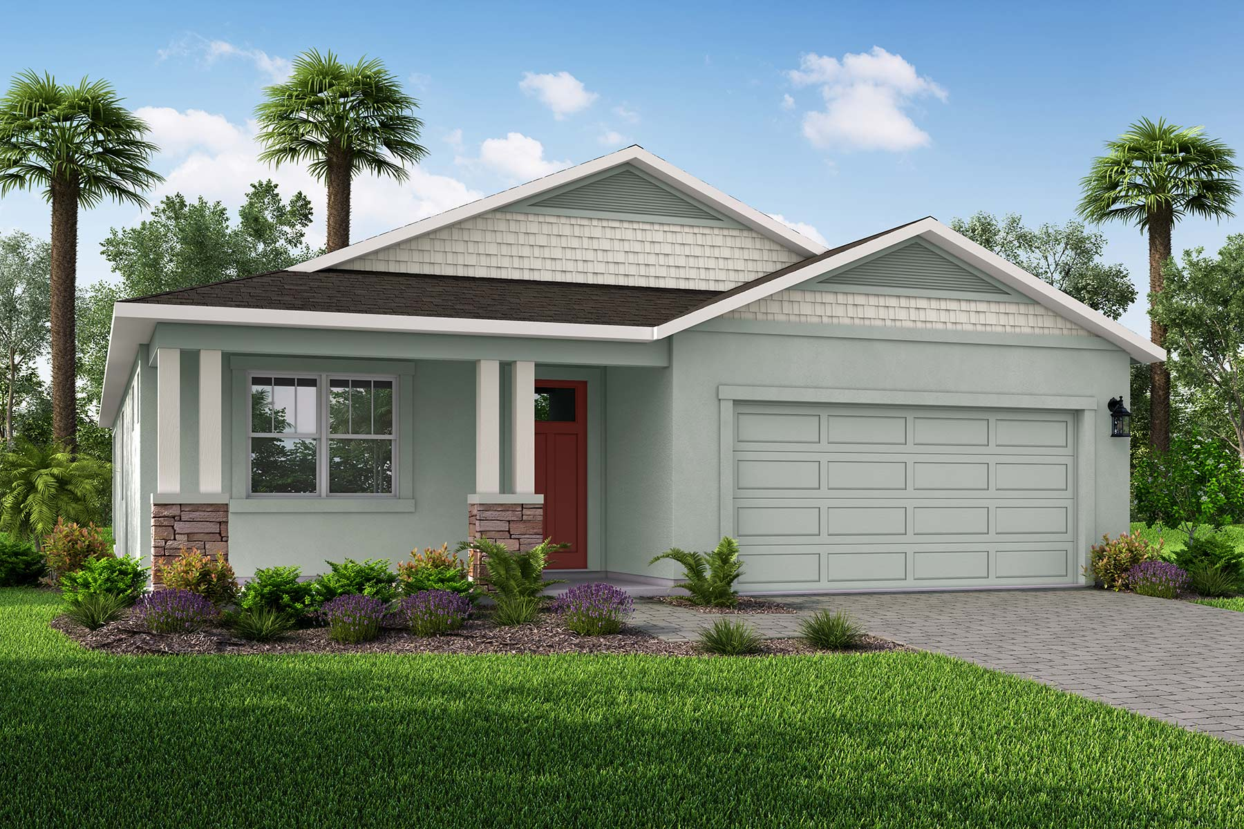 Parkview at Long Lake Ranch Elevation Front in Lutz Florida by Mattamy Homes