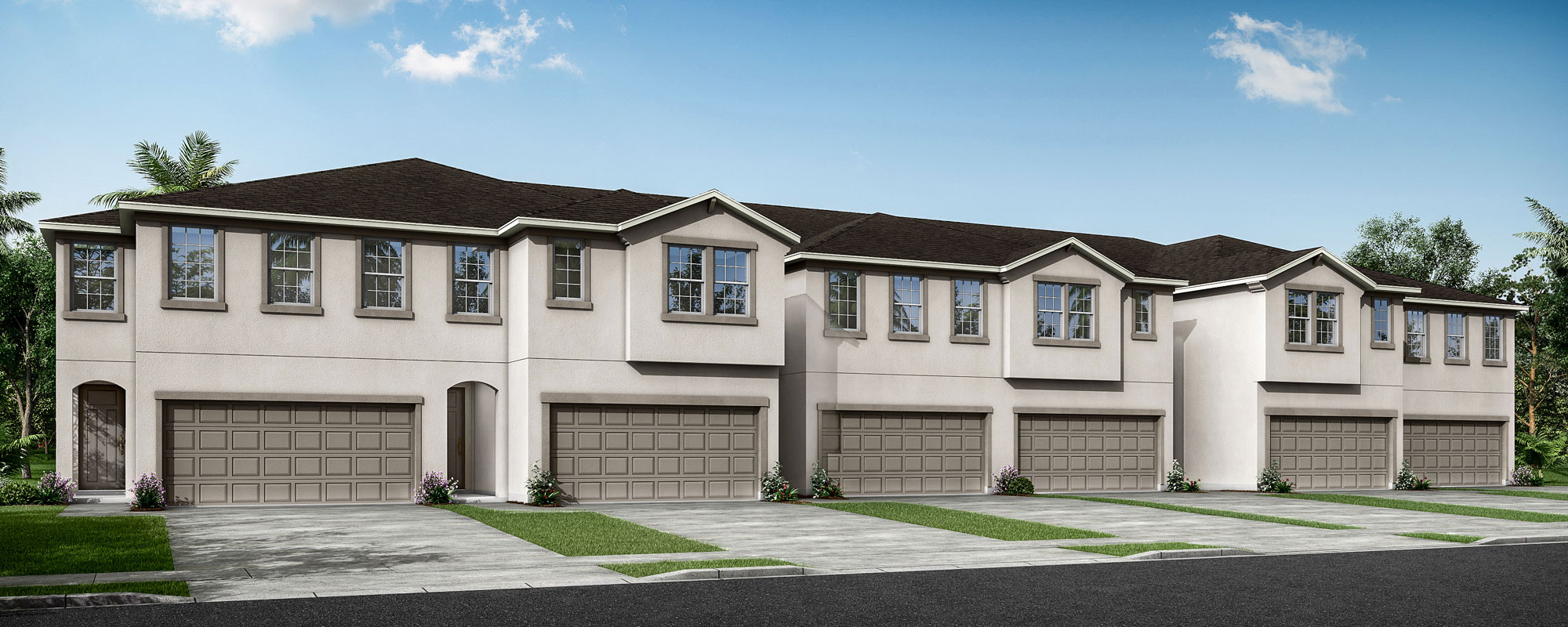 Venice Plan TownHomes at Parkview at Long Lake Ranch in Lutz Florida by Mattamy Homes