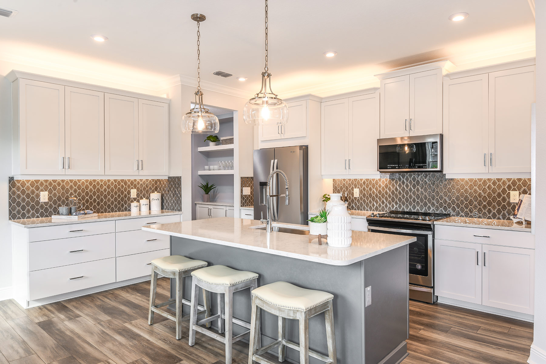 Venice Plan Kitchen at Parkview at Long Lake Ranch in Lutz Florida by Mattamy Homes