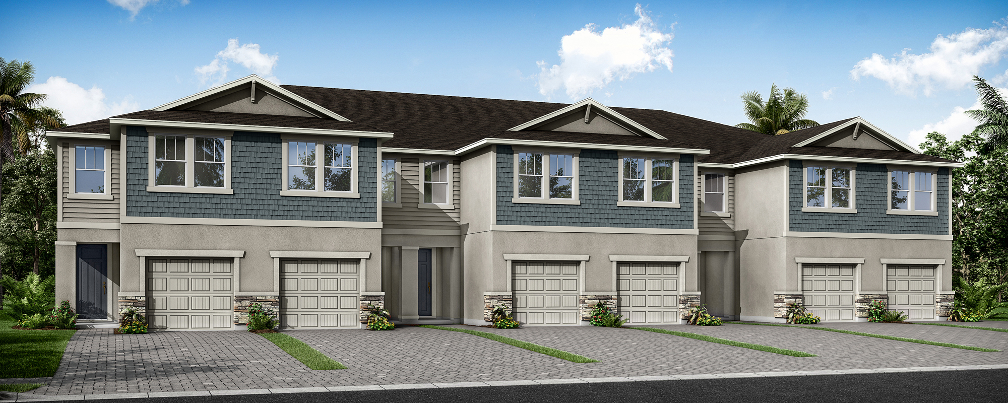 Marianna Plan TownHomes at Volanti in Wesley Chapel Florida by Mattamy Homes