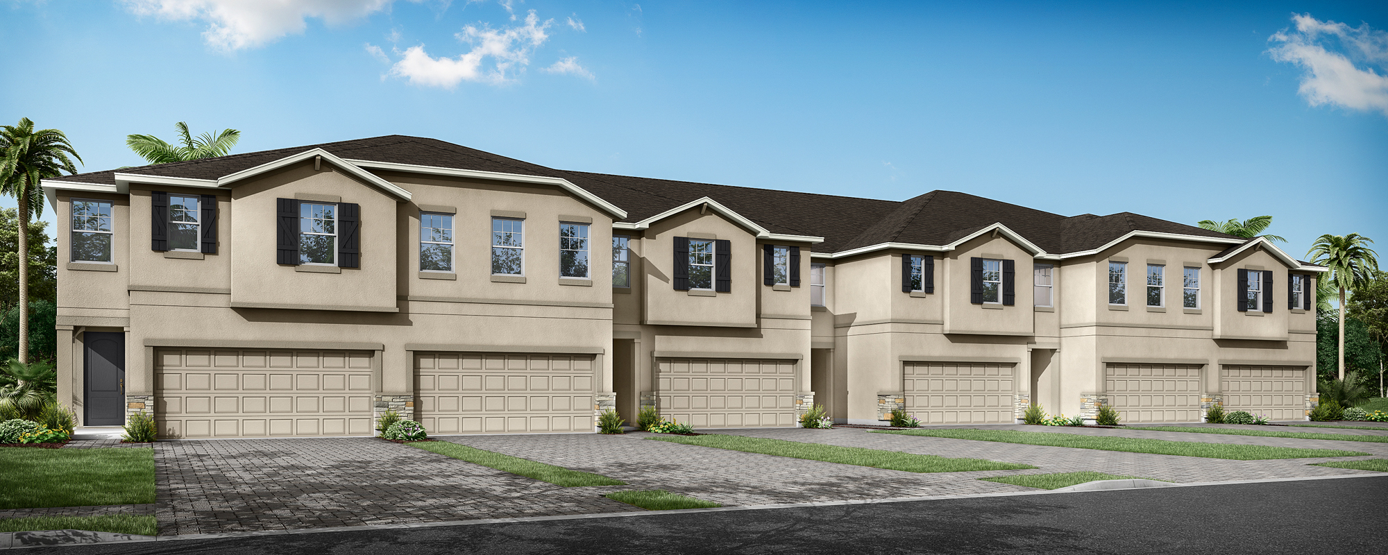 Sebring Plan TownHomes at Volanti in Wesley Chapel Florida by Mattamy Homes