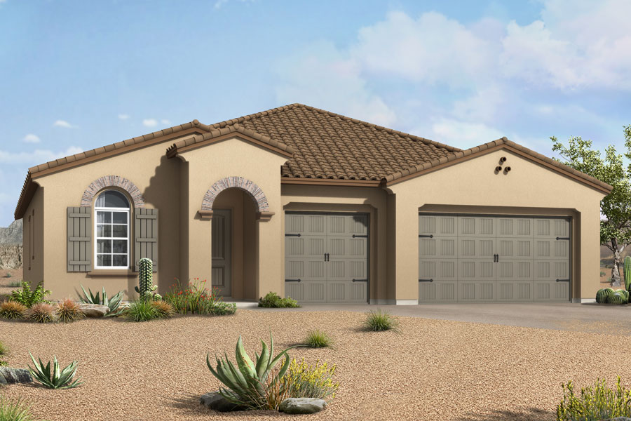 Agave Plan Elevation Front at Alterra at Vistoso Trails in Oro Valley Arizona by Mattamy Homes