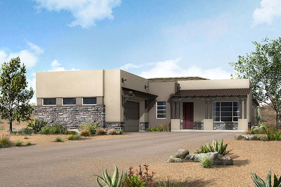 Apex Plan Elevation Front at Alterra at Vistoso Trails in Oro Valley Arizona by Mattamy Homes