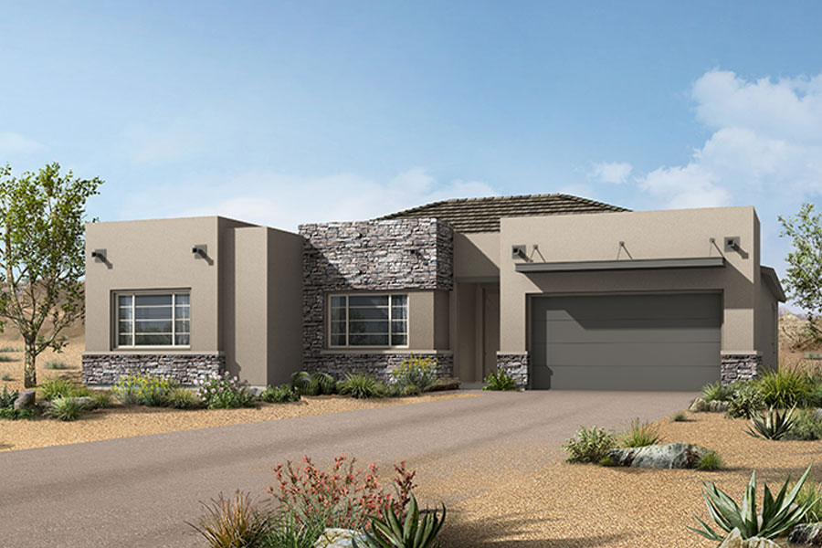 Cimarron Plan Elevation Front at Alterra at Vistoso Trails in Oro Valley Arizona by Mattamy Homes