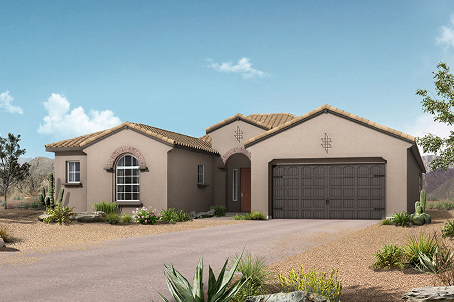 Patina Plan Elevation Front at Alterra at Vistoso Trails in Oro Valley Arizona by Mattamy Homes