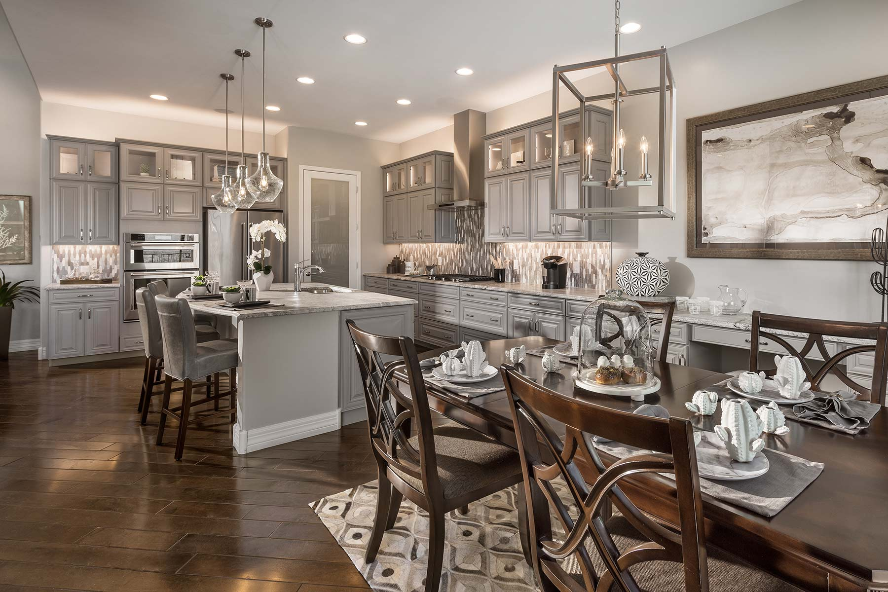 Patina Plan Kitchen at Alterra at Vistoso Trails in Oro Valley Arizona by Mattamy Homes
