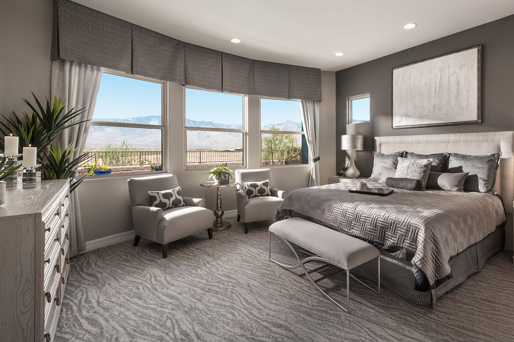 Patina Plan Bedroom at Alterra at Vistoso Trails in Oro Valley Arizona by Mattamy Homes