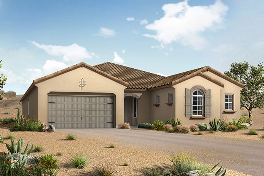 Strata Plan Elevation Front at Alterra at Vistoso Trails in Oro Valley Arizona by Mattamy Homes