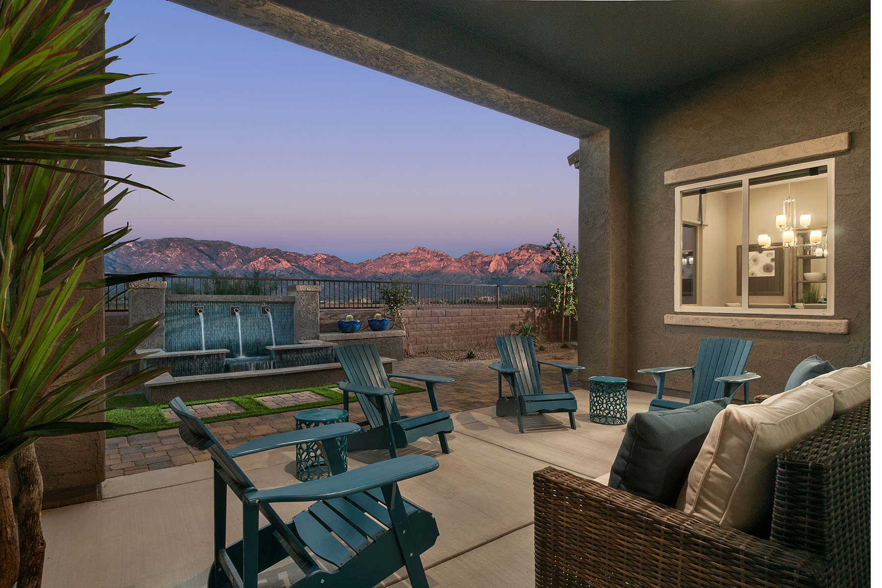 Strata Plan Patio at Alterra at Vistoso Trails in Oro Valley Arizona by Mattamy Homes