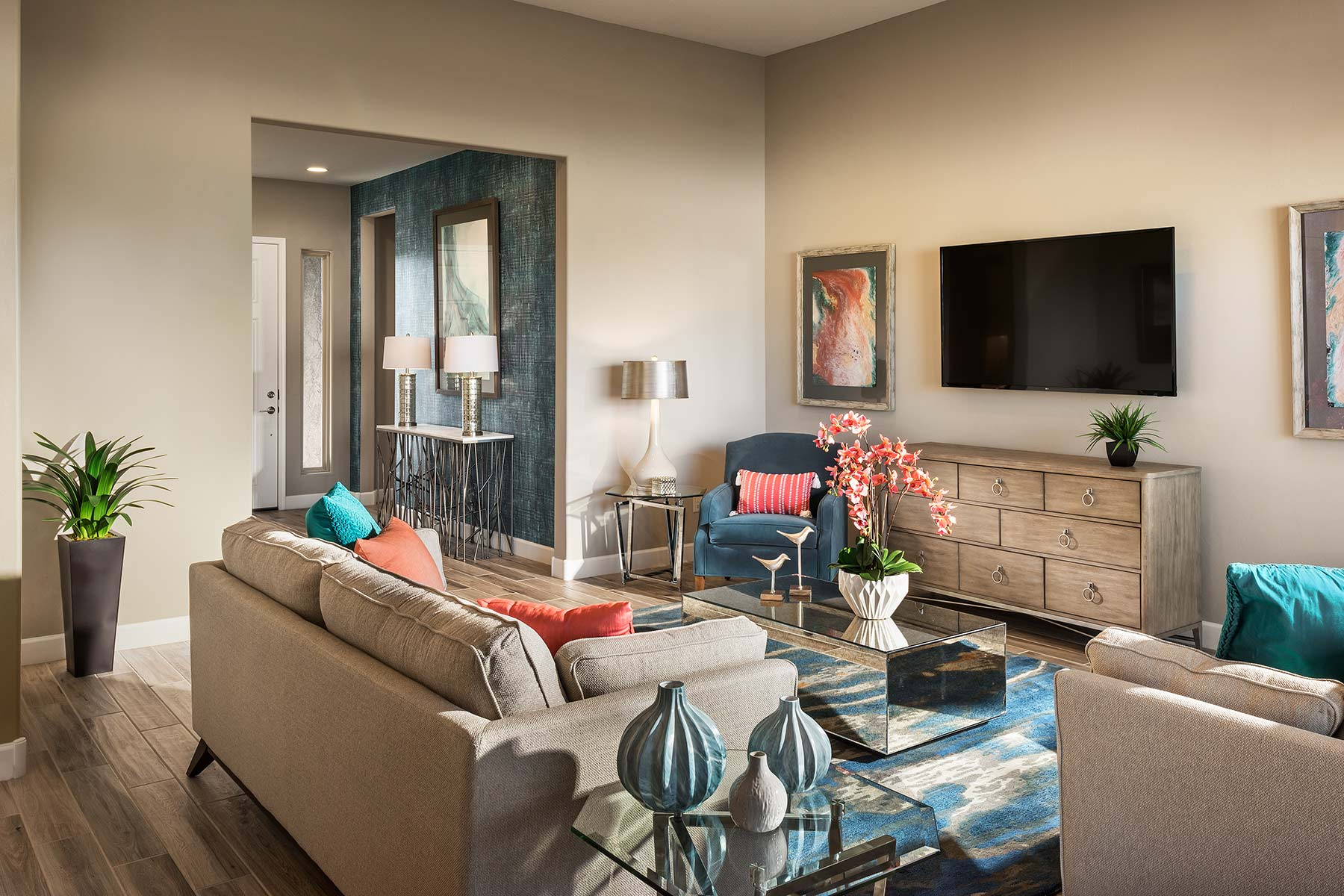 Strata Plan Greatroom at Alterra at Vistoso Trails in Oro Valley Arizona by Mattamy Homes