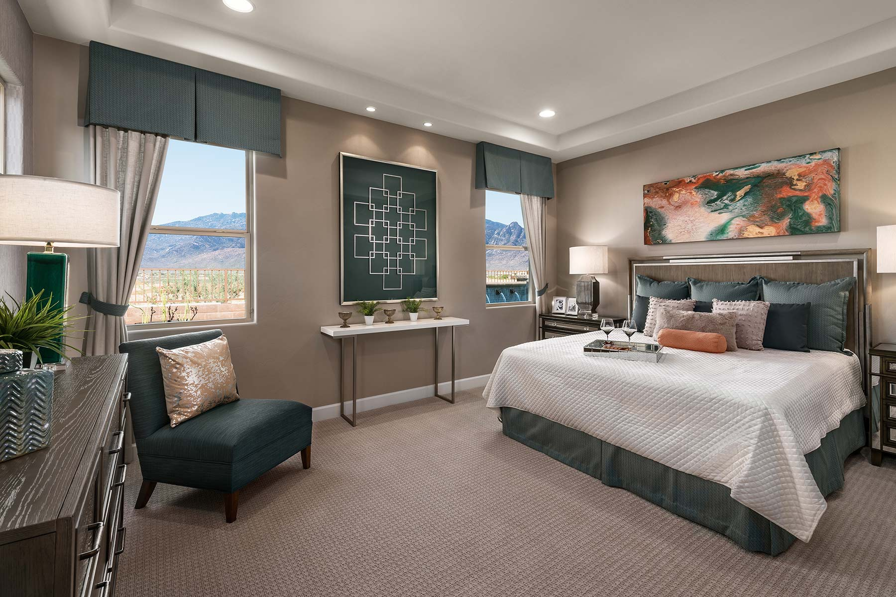 Strata Plan Bedroom at Alterra at Vistoso Trails in Oro Valley Arizona by Mattamy Homes