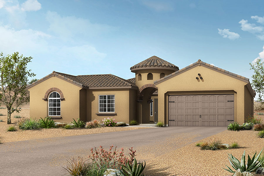 Terrain Plan Elevation Front at Alterra at Vistoso Trails in Oro Valley Arizona by Mattamy Homes