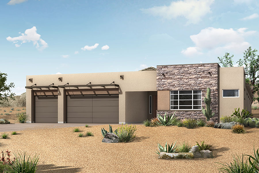 Vale Plan Elevation Front at Alterra at Vistoso Trails in Oro Valley Arizona by Mattamy Homes
