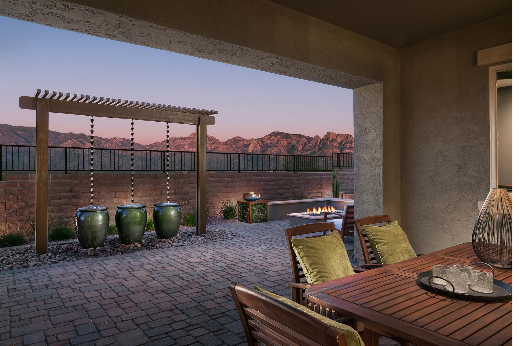 Vale Plan Patio at Alterra at Vistoso Trails in Oro Valley Arizona by Mattamy Homes