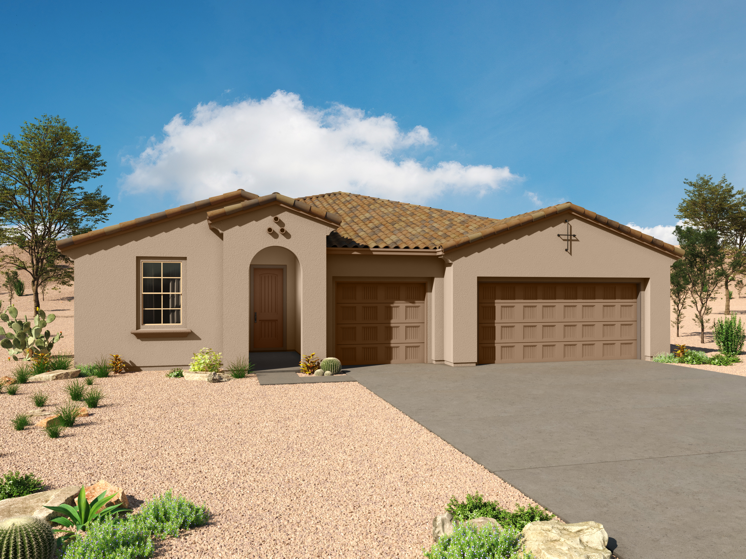 Agave Plan Elevation Front at Desert Oasis at Twin Peaks in Marana Arizona by Mattamy Homes