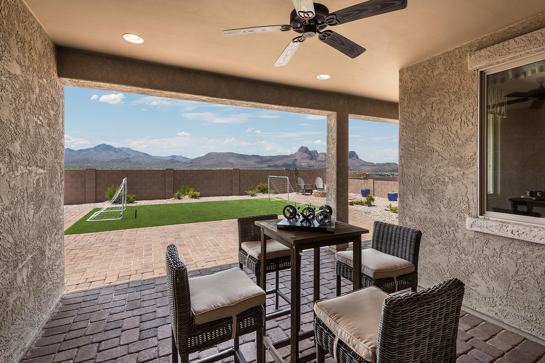 Agave Plan House Backyard at Alterra at Vistoso Trails in Oro Valley Arizona by Mattamy Homes