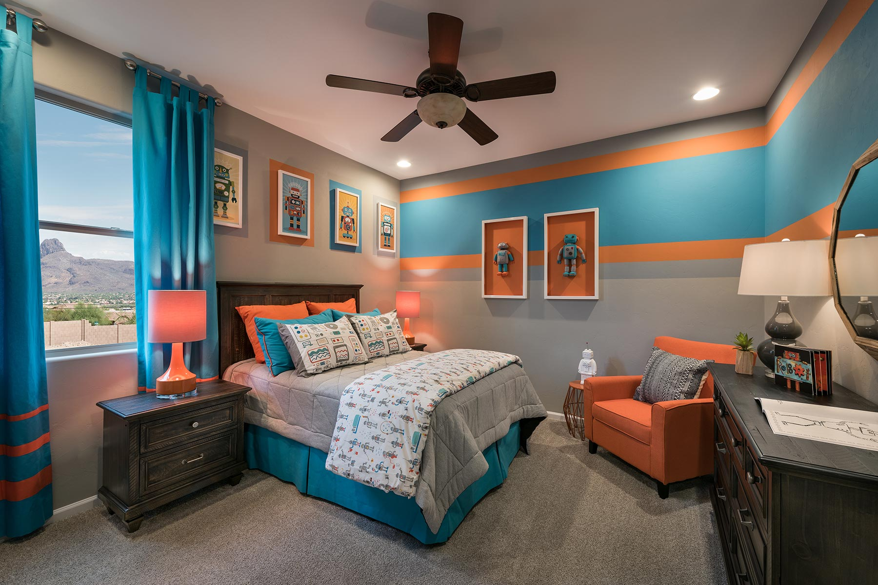 Agave Plan Bedroom at Desert Oasis at Twin Peaks in Marana Arizona by Mattamy Homes