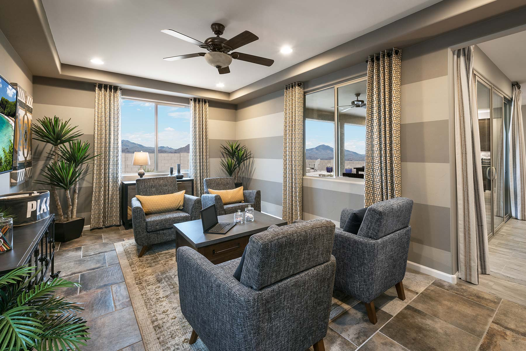 Agave Plan Study Room at Desert Oasis at Twin Peaks in Marana Arizona by Mattamy Homes