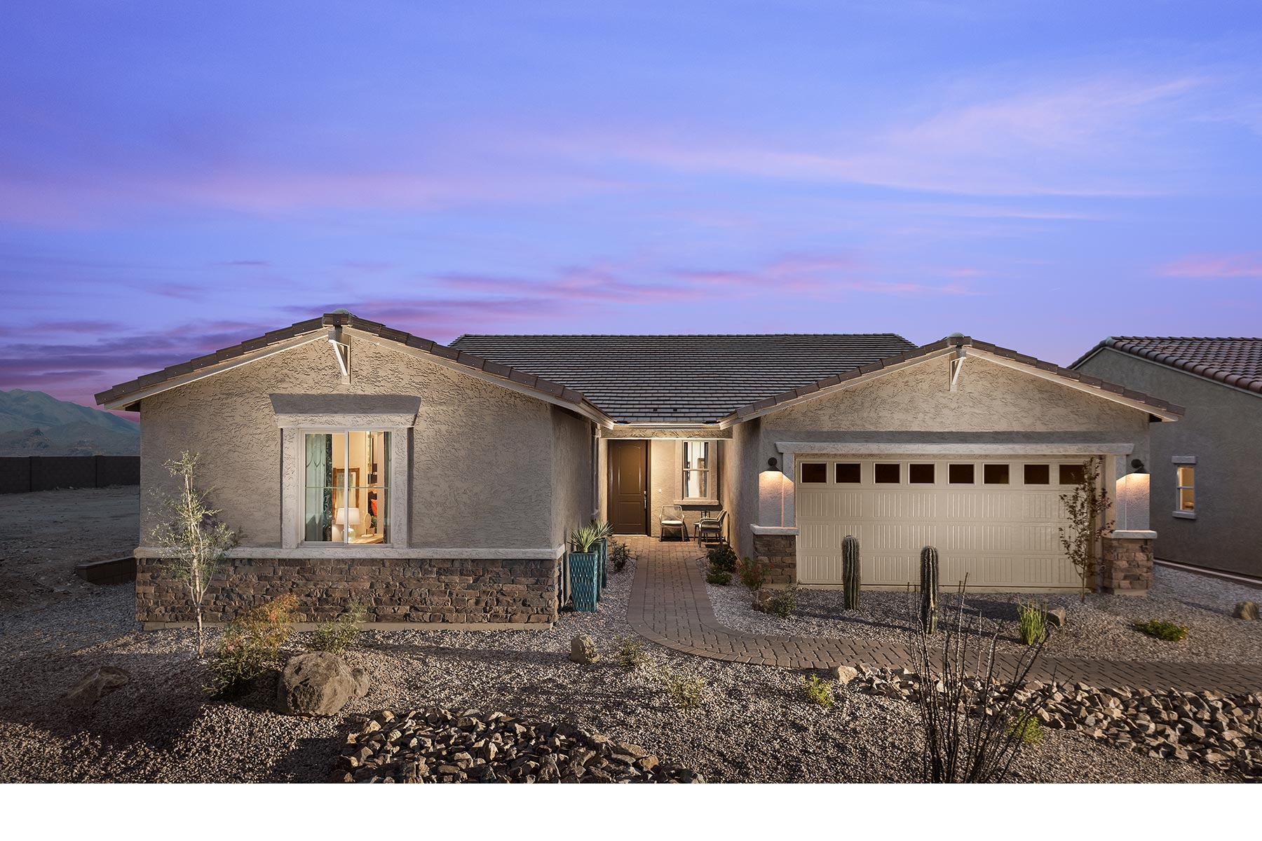 Willow Plan Elevation Front at Desert Oasis at Twin Peaks in Marana Arizona by Mattamy Homes