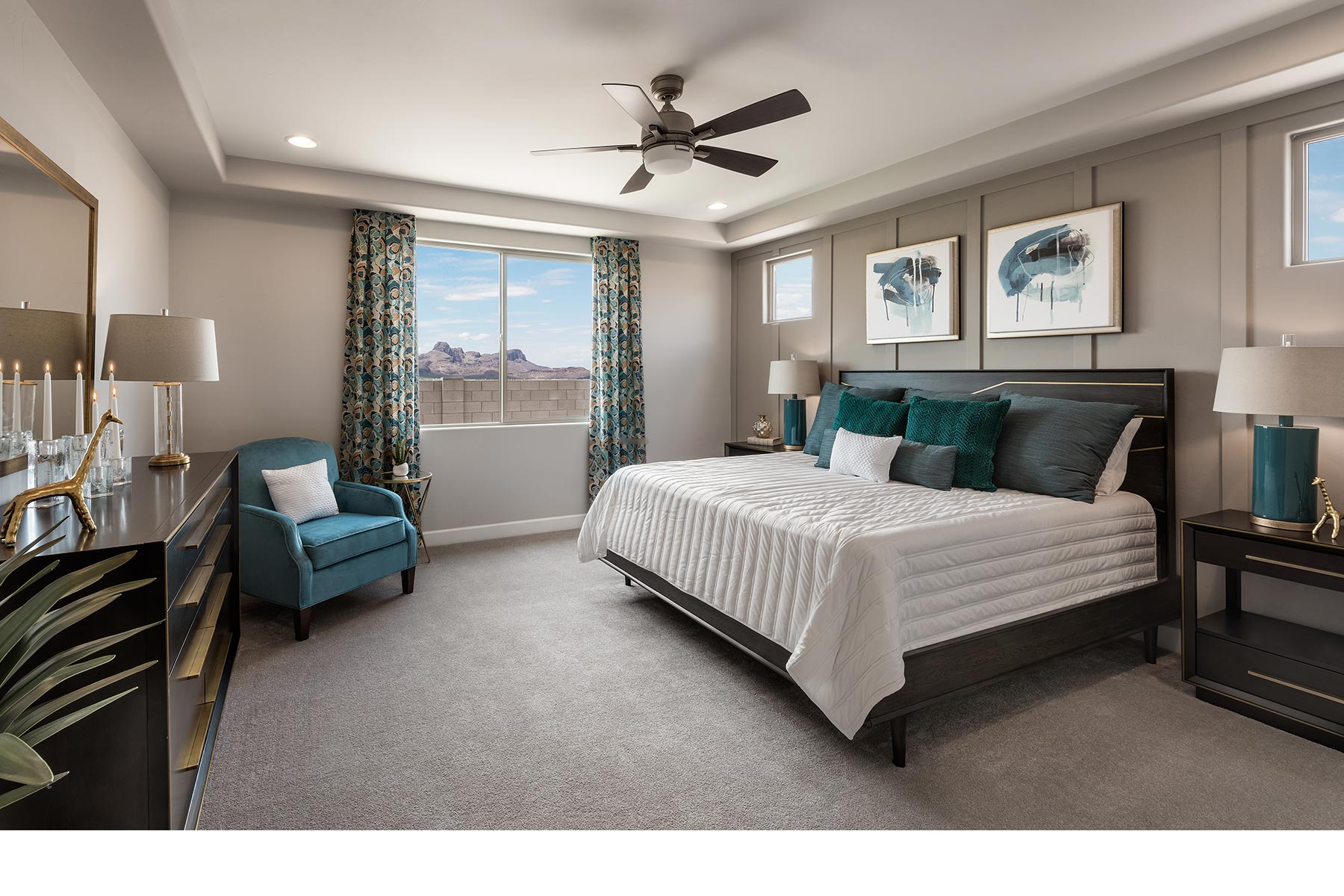 Willow Plan Bedroom at Desert Oasis at Twin Peaks in Marana Arizona by Mattamy Homes