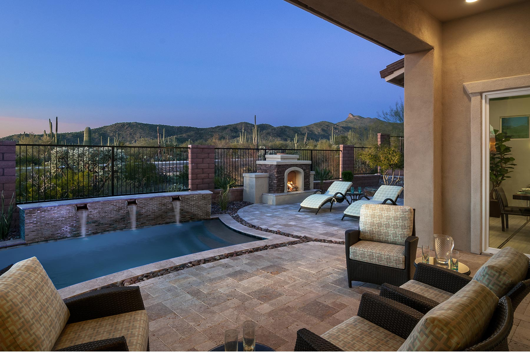 Dove Mountain Elevation Back Side in Marana Arizona by Mattamy Homes