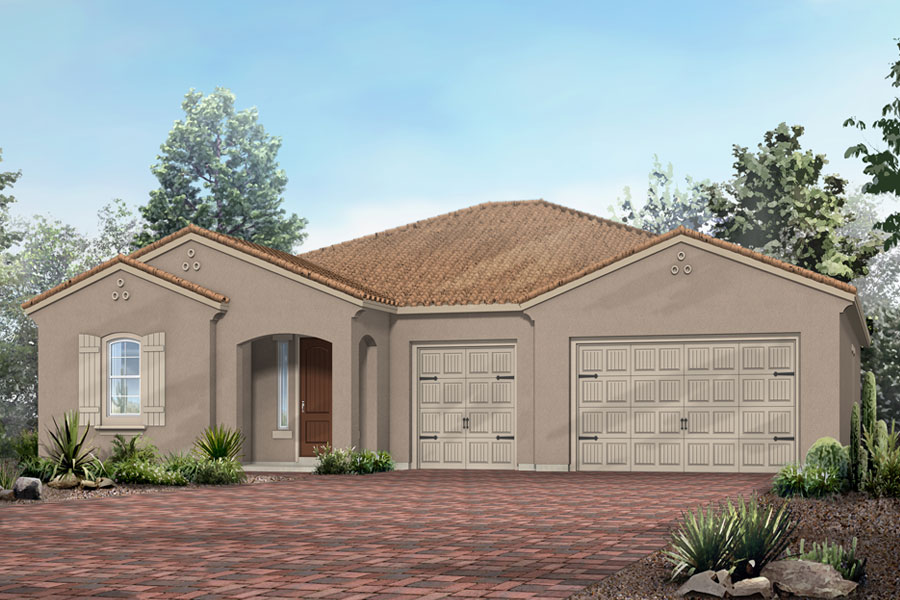 Havasu Plan Elevation Front at Dove Mountain in Marana Arizona by Mattamy Homes