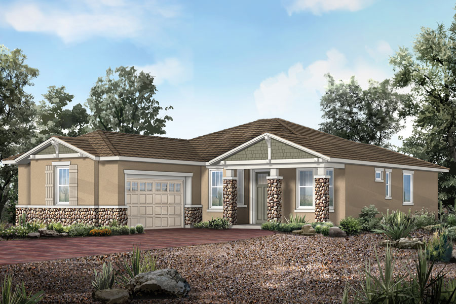 Lookout Plan Elevation Front at Dove Mountain in Marana Arizona by Mattamy Homes