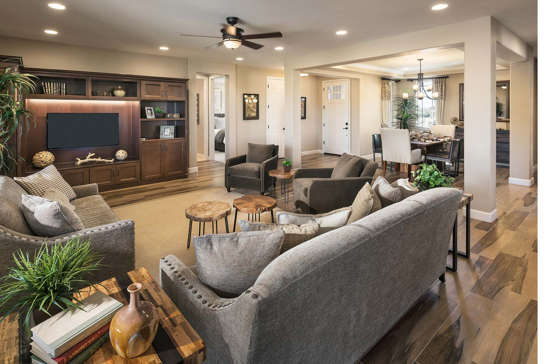 Lookout Plan Greatroom at Dove Mountain in Marana Arizona by Mattamy Homes