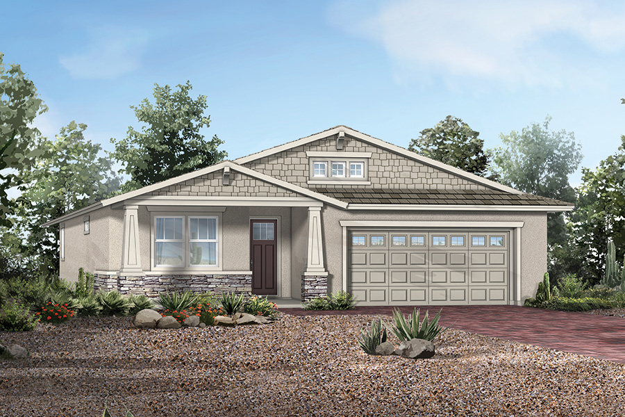 Madera Plan Elevation Front at Dove Mountain in Marana Arizona by Mattamy Homes