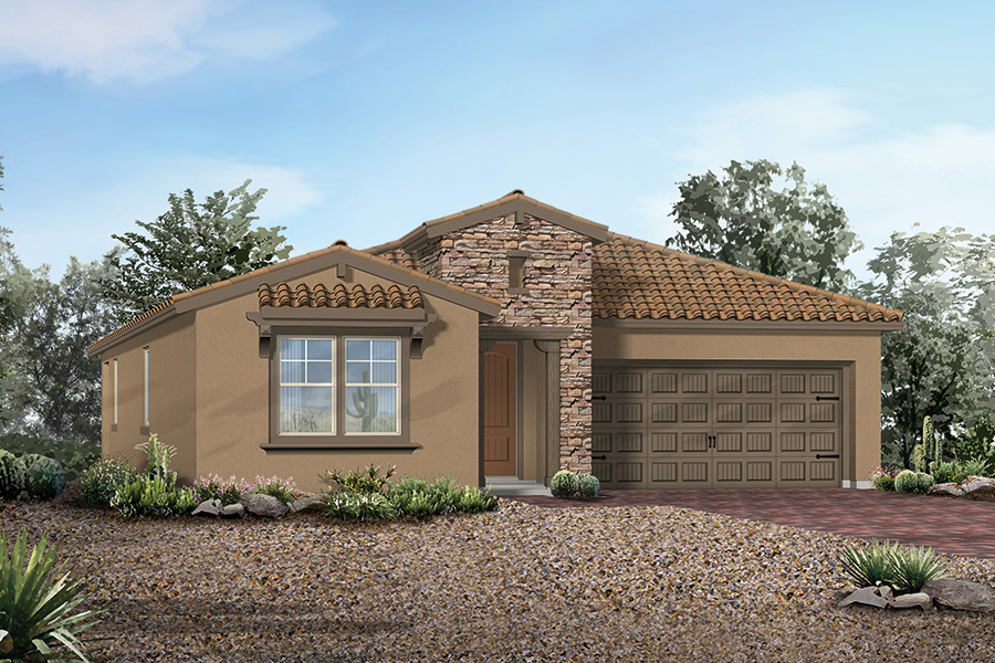 Oak Creek Plan Elevation Front at Dove Mountain in Marana Arizona by Mattamy Homes
