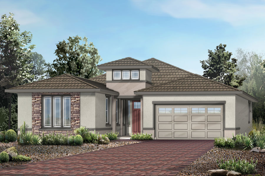 Panorama Plan Elevation Front at Dove Mountain in Marana Arizona by Mattamy Homes