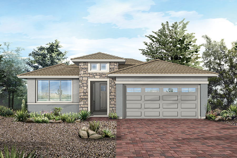 Peralta Plan Elevation Front at Dove Mountain in Marana Arizona by Mattamy Homes