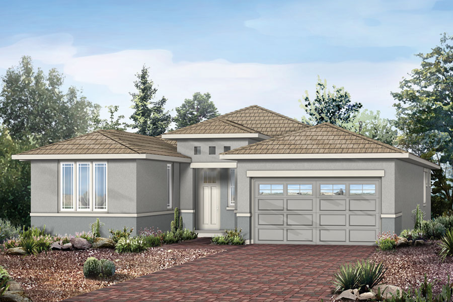 Cimarron Plan Elevation Front at Dove Mountain in Marana Arizona by Mattamy Homes
