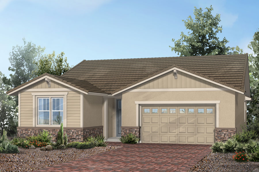 Sentinel Plan Elevation Front at Dove Mountain in Marana Arizona by Mattamy Homes