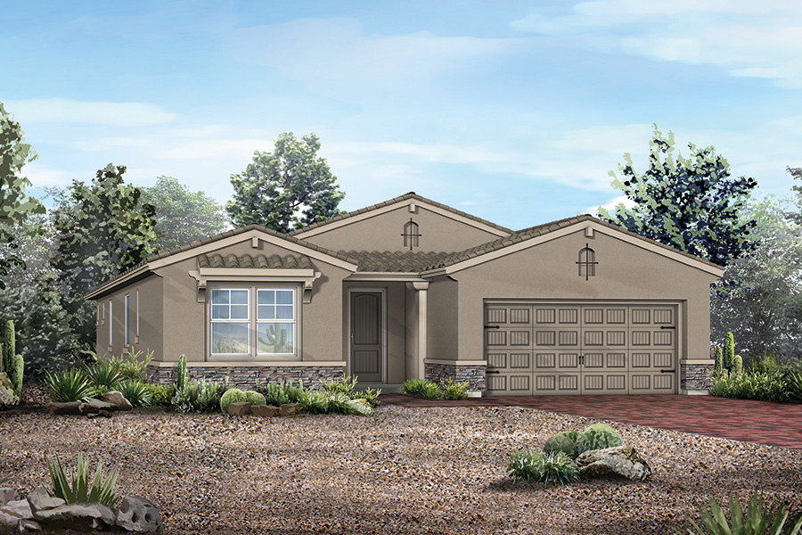 Dove Mountain Elevation Front in Marana Arizona by Mattamy Homes