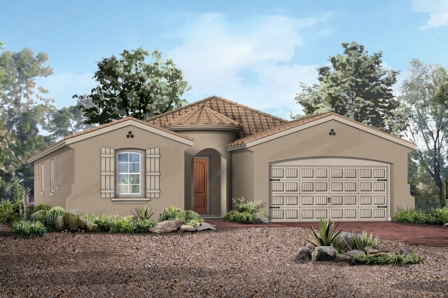 Sycamore Plan Elevation Front at Dove Mountain in Marana Arizona by Mattamy Homes