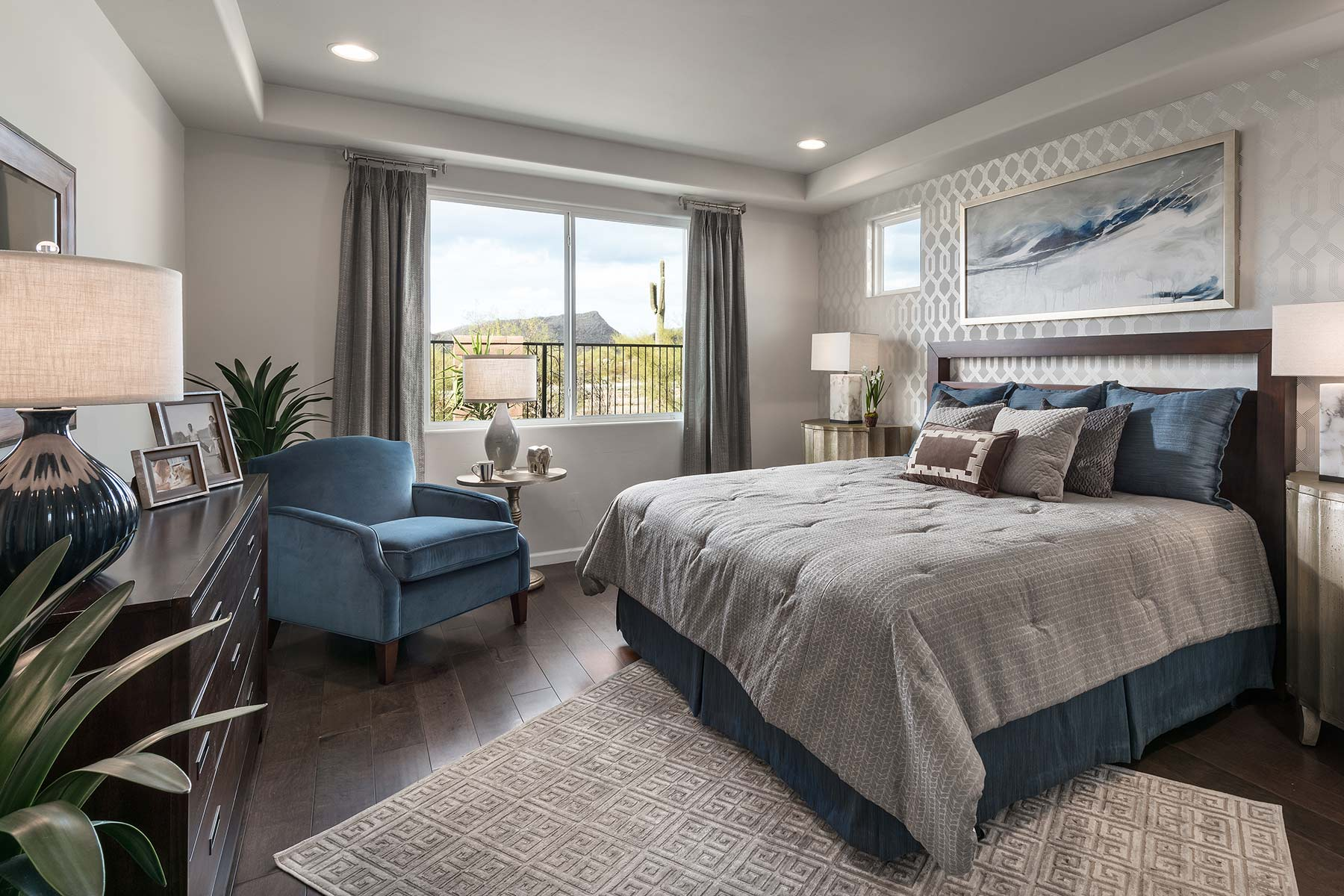 Sycamore Plan Bedroom at Dove Mountain in Marana Arizona by Mattamy Homes