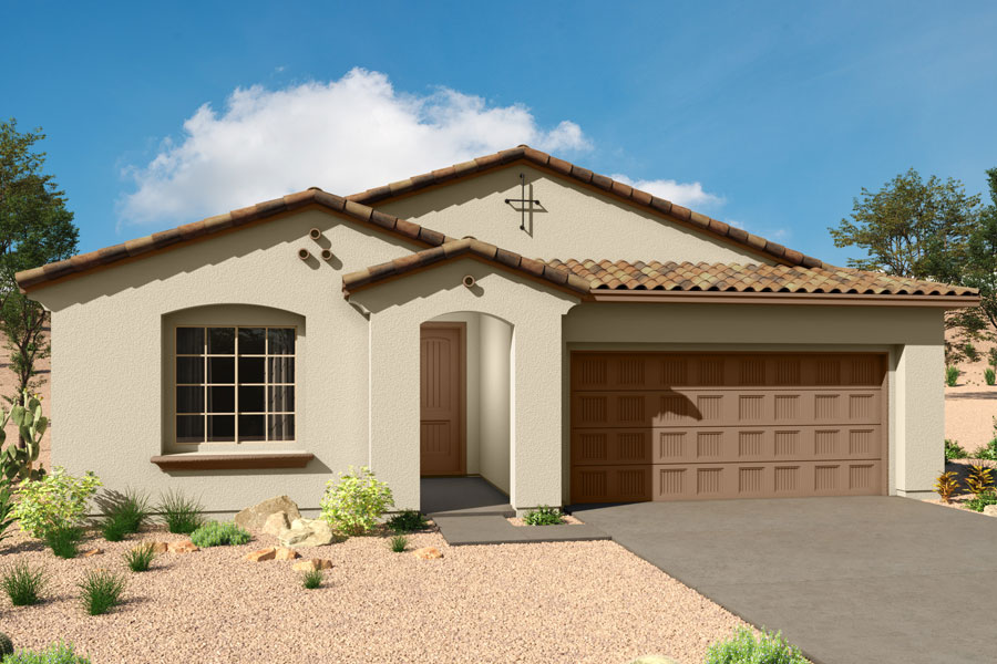 Acacia Plan Elevation Front at Saguaro Trails in Tucson Arizona by Mattamy Homes