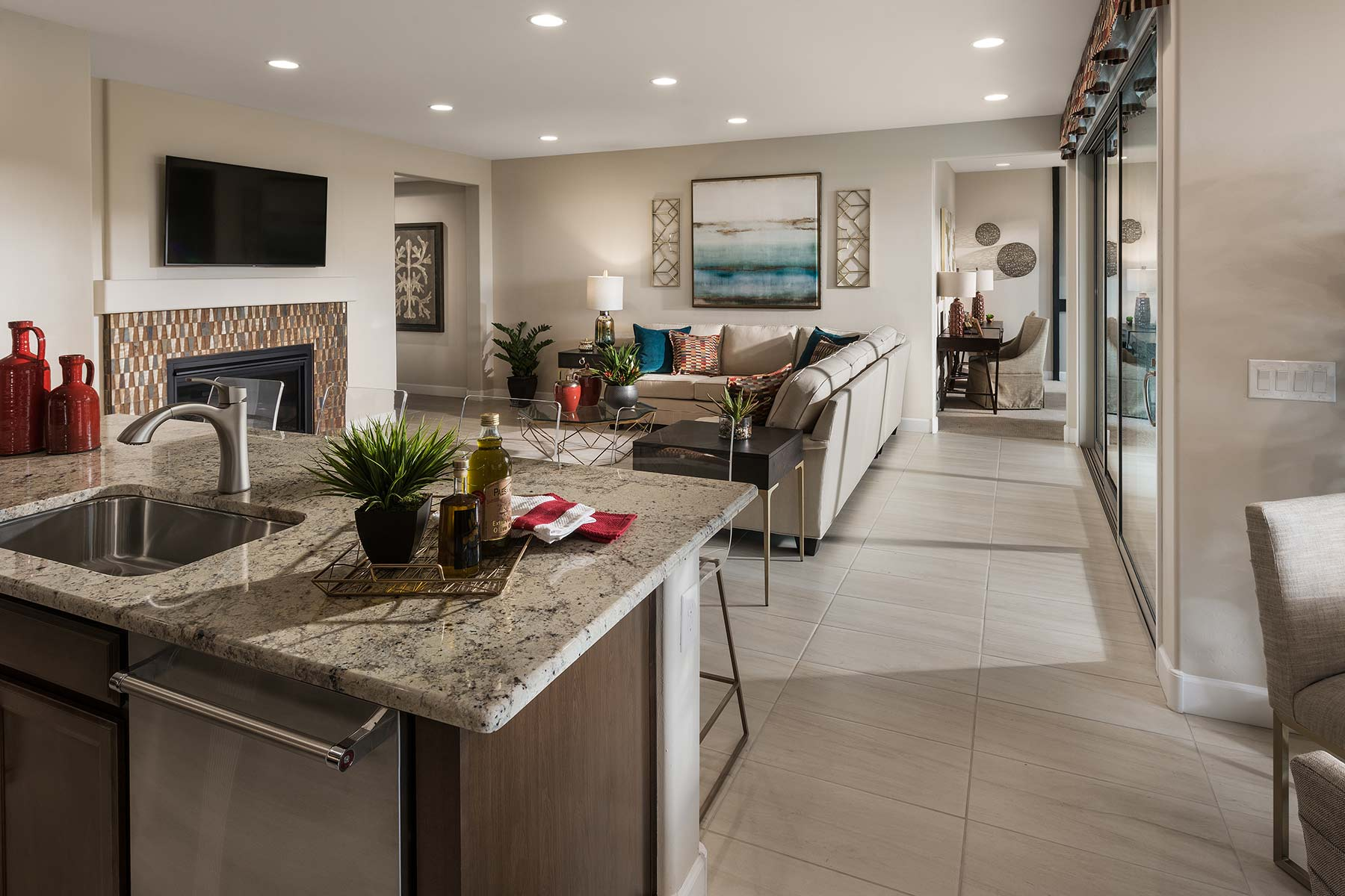 Agave Plan Greatroom at Saguaro Trails in Tucson Arizona by Mattamy Homes