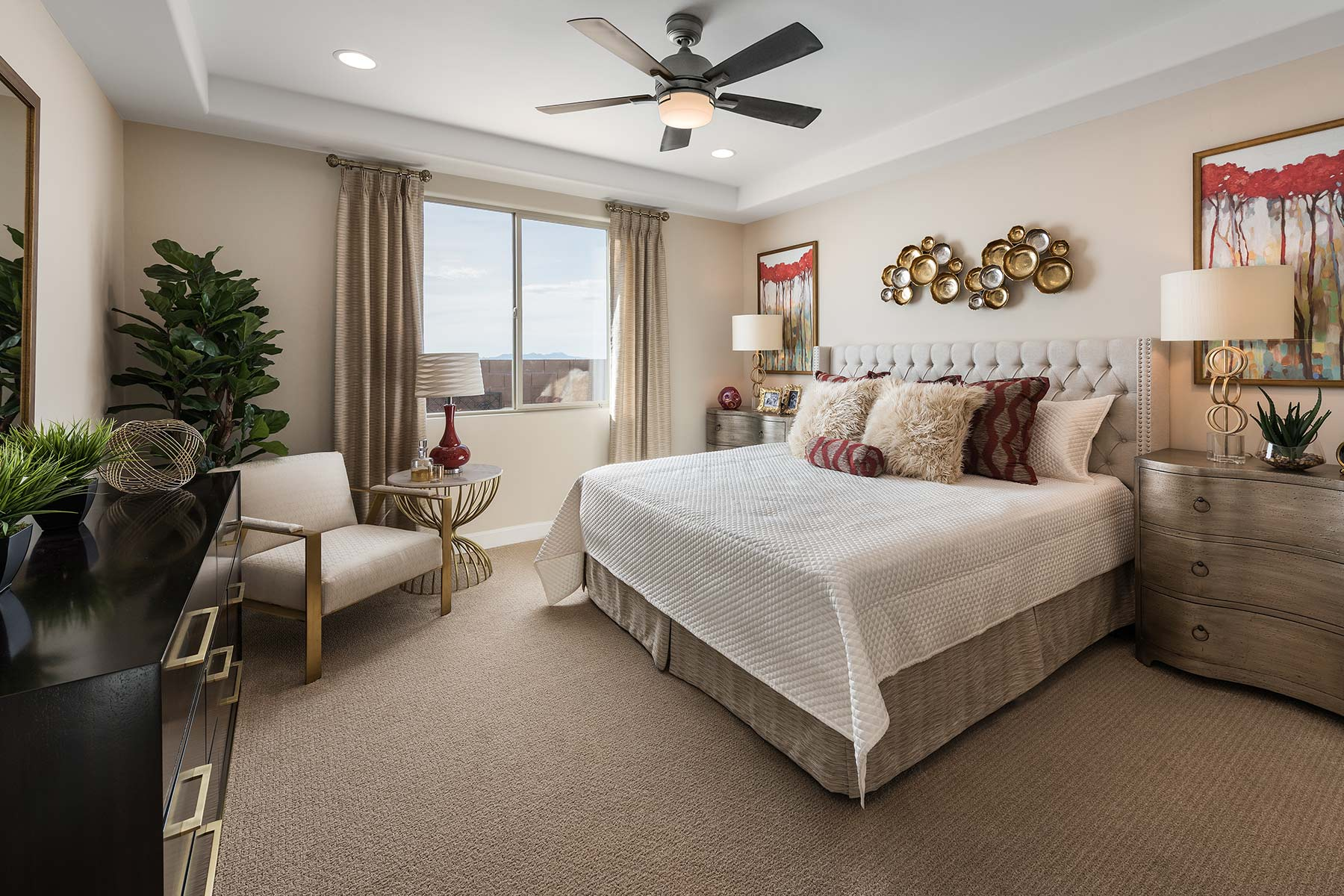 Agave Plan Bedroom at Saguaro Trails in Tucson Arizona by Mattamy Homes